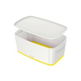 Boîte de rangement My Box 5 litres blanc/jaune - Leitz | Boîtes avec Couvercle