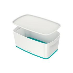 Boîte de rangement My Box 5 litres blanc/menthe - Leitz | Boîtes avec Couvercle