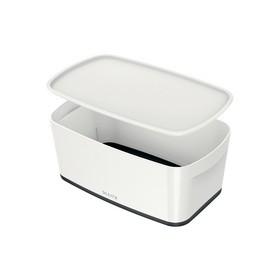 Boîte de rangement My Box 5 litres blanc/noir - Leitz | Boîtes avec Couvercle