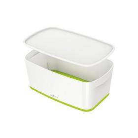 Boîte de rangement My Box 5 litres blanc/vert - Leitz | Boîtes avec Couvercle