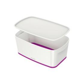 Boîte de rangement My Box 5 litres blanc/violet - Leitz | Boîtes avec Couvercle