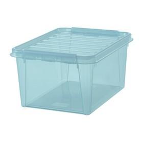 Boîte de rangement COLOUR 31 32 litres aigue - Smarstore - Boîtes avec Couvercle