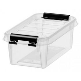 Petite Boîte de rangement CLASSIC 0,5 litre clips fermeture noirs - Smarstore - Boîtes avec Couvercle