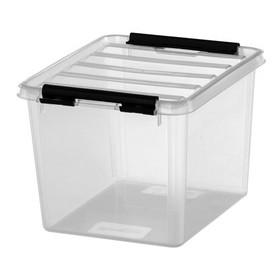 Boîte de rangement CLASSIC 3 3 litres - clips noirs - Smarstore - Boîtes avec Couvercle