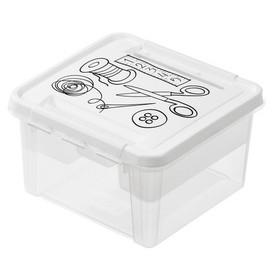 Boîte de rangement Deco 12 - Couture blanc - Smarstore   Boîtes avec Couvercle