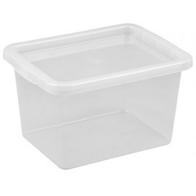 Boîte de rangement BASIC BOX 15 litres - Plast Team - Boîtes avec Couvercle