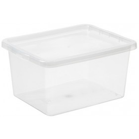 Boîte de rangement BASIC BOX 20 litres - Plast Team   Boîtes avec Couvercle