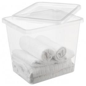Boîte de rangement BASIC BOX 31,0 litres - Plast Team   Boîtes avec Couvercle
