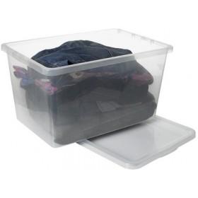 Grande Boîte de rangement BASIC BOX 52 litres - Plast Team | Boîtes avec Couvercle