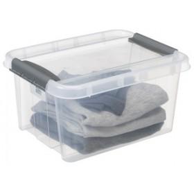 Boîte de rangement PROBOX clips de fermeture noirs 14 litres - Plast Team   Boîtes avec Couvercle