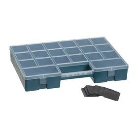 Boîte d'assortiment 12 compartiments LUXOR HOBBY BOX pétrole - Plast Team - Boîtes d'assortiment