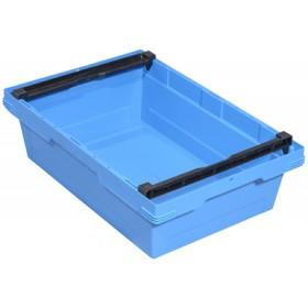 Bac de rangement F400 Ship 323B en PP bleu - 58 litres - Allit | Bacs de Rangement