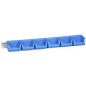 Lot de 6 bacs à bec avec rail ProfiPlus 1/7 bleu - Allit   Stockage