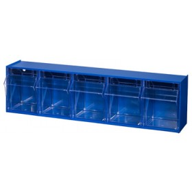 Bloc-tiroirs VarioPlus ProFlip 5 casiers bleu - Allit   Stockage