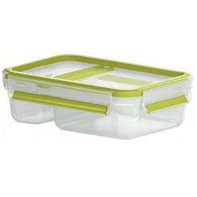 Boîte à yaourts Clip&Go 0,6L transparent / vert - Emsa | Boîtes à Repas