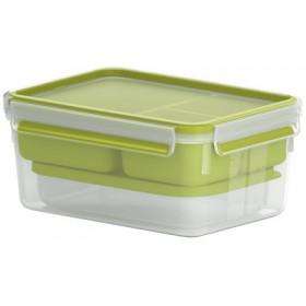 Boîte repas XL Clip & Go 2,3L transparent/vert - Emsa | Boîtes à Repas