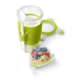 Mug pour yaourt Clip&Go avec cuillère et Récipient - Emsa | Boîtes à Repas