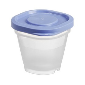 4 petites Boîtes alimentaire vinaigrette 0,5 ml Bleu - Gastromax